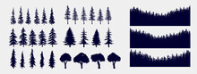 Tree And Forest Silhouettes - ...