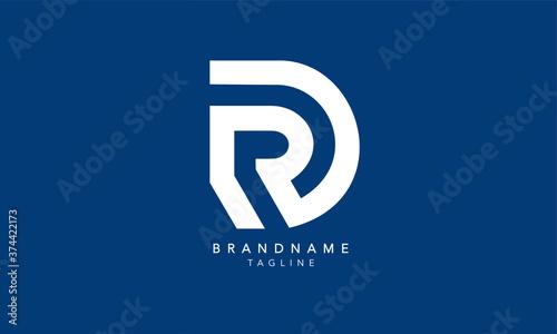 Canvas Print Alphabet letters Initials Monogram logo RD, DR, R and D