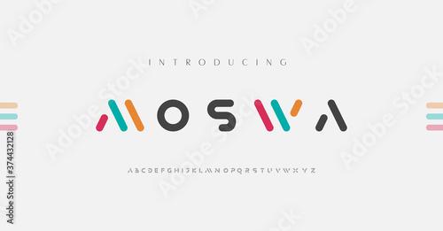 Obraz na plátně Minimal modern alphabet fonts