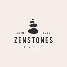 Zen Stones Hipster Vintage Logo Vector Icon Illustration
