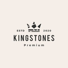 King Stones Hipster Vintage Logo Vector Icon Illustration