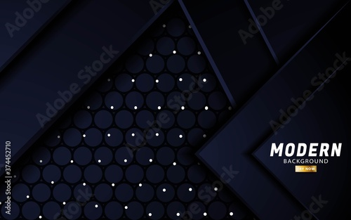 Obraz na plátne premium black vector background banner