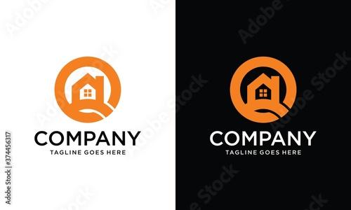 Obraz na plátně House O Letter Logo
