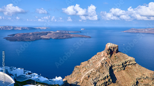 Views of Santorini Caldera from Imerovigli Tableau sur Toile