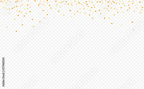Obraz Yellow Sequin Falling Transparent Background.  - fototapety do salonu