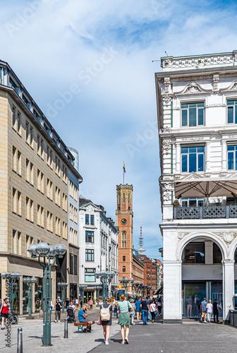 Altstadt von Hamburg Fototapete