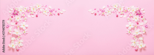 Papel de parede pink  apple flowers on pink background