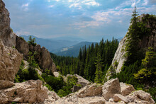 Landscape Of Mountains With Fo...