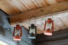 Three Traditional Kerosene Lam...