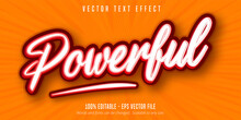 Powerful Text, Pop Art Style Editable Text Effect