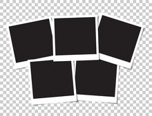 Set Of Blank Photos For Collage. Vector Illustration.