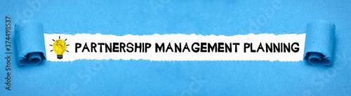 Leinwand Poster Partnership Management Planning