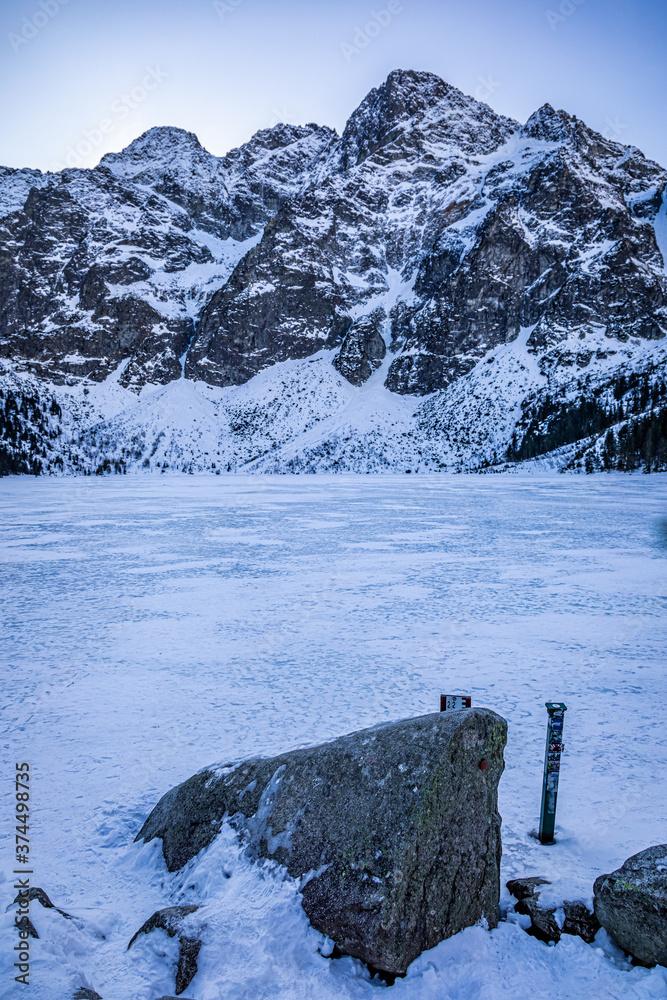 Morskie Oko lake in Tatra mountain in Poland