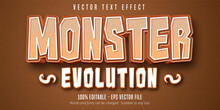 Monster Evolution Text, Cartoo...