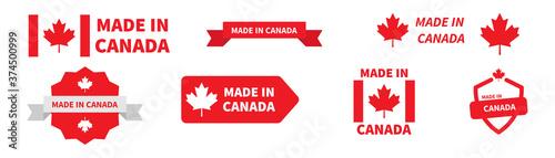 Obraz na płótnie Made in Canada label badge collection