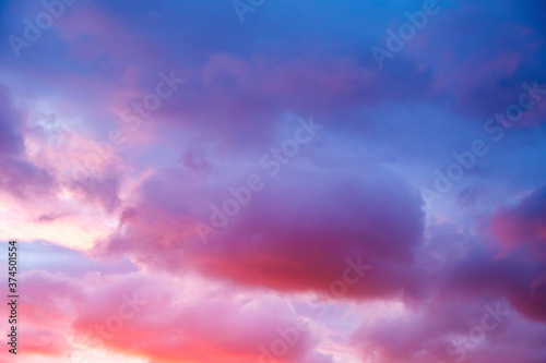 Obraz Twilight sky and cloud at sunset - fototapety do salonu