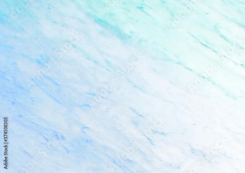 Obraz na plátně 和紙風大理石模様 背景素材(青×緑)
