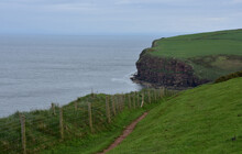 Winding Dirt Trail Along The Sea Cliffs Of St Bees