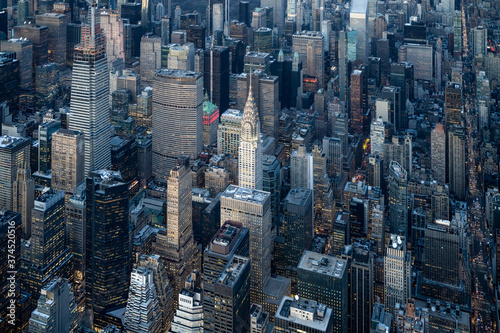 Aerial view of the Chrysler Building in New York City, USA - 374520516