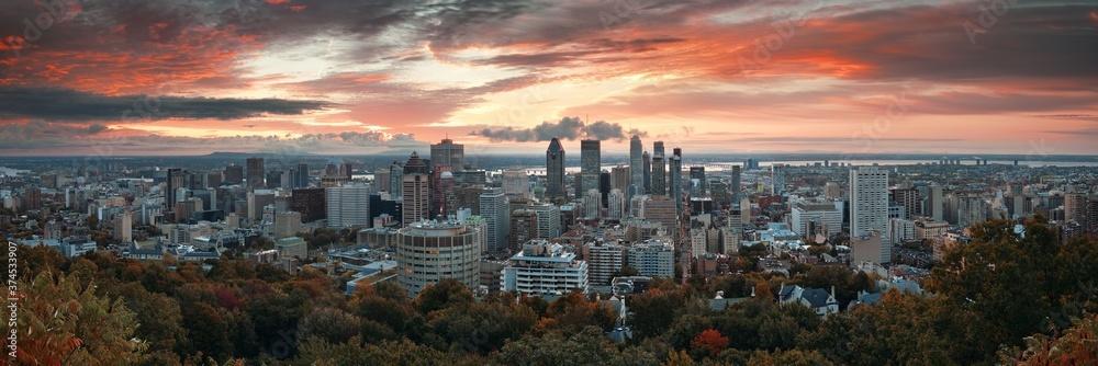Fototapeta Montreal sunrise city skyline panorama