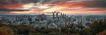 Montreal Sunrise City Skyline ...