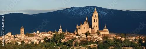 Fototapeta Cathedral of Segovia panorama