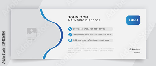 Fototapeta Corporate email signature banner vector template sign