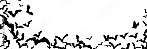 Halloween background with bats. Easy to edit vector image.