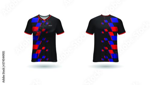 Fototapeta Sport design template  football jersey vector for football club