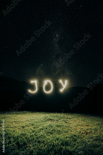 Joy written under the stars