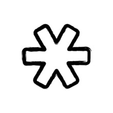 Vector Illustration Hand Drawn Icon Ofkeyboard Asterisk 2