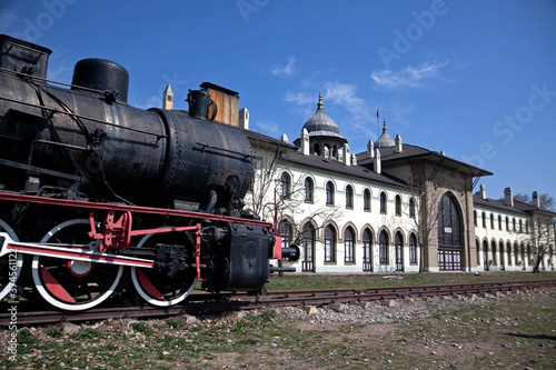 Obraz na plátně Old train station in Edirne Turkey