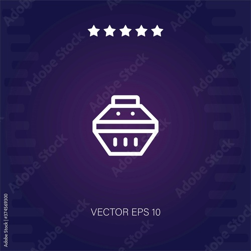 фотография pet carrier vector icon modern illustration