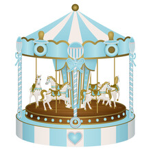 Baby Shower Carousel For Baby Boy