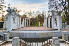 Ancient Theater On Island In Royal Baths Park In Warsaw