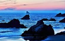 Sunset Among The Rocks