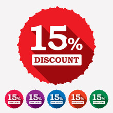 15% Off Discount Tag, Sticker,...
