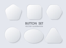 3D Geometric Buttons With Real...