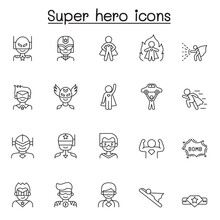 Set Of Super Hero Related Vect...