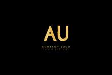 AU Brush Stroke Letter Logo De...