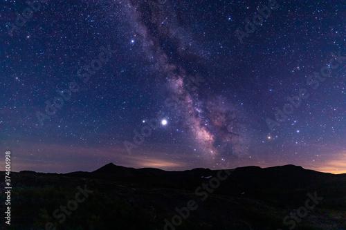 Photo 黒岳の頂上からの星空と天の川の眺望