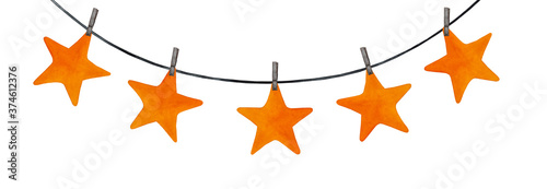 Beautiful drawing of festive stars Fotobehang