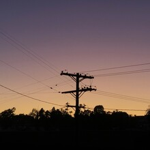 Power Lines At Sunset In Los A...