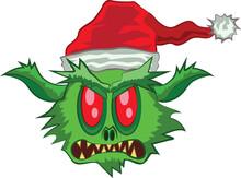 Green Ogre In Christmas