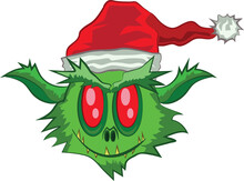 Green Ogre In Christmas