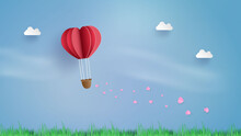 Balloon Flying Over Cloud With...