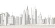modern city panorama 3d illustration
