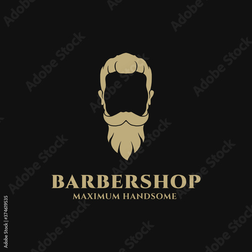 Obraz na plátně Barbershop Vector illustration Logo Design Inspiration