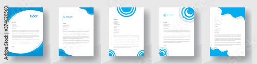 Modern Creative & Clean business style letterhead bundle of your corporate project design Wallpaper Mural
