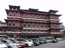 Singapore, March 7, 2016: Side View Of The Buddha Tooth Relic Temple. Singapore